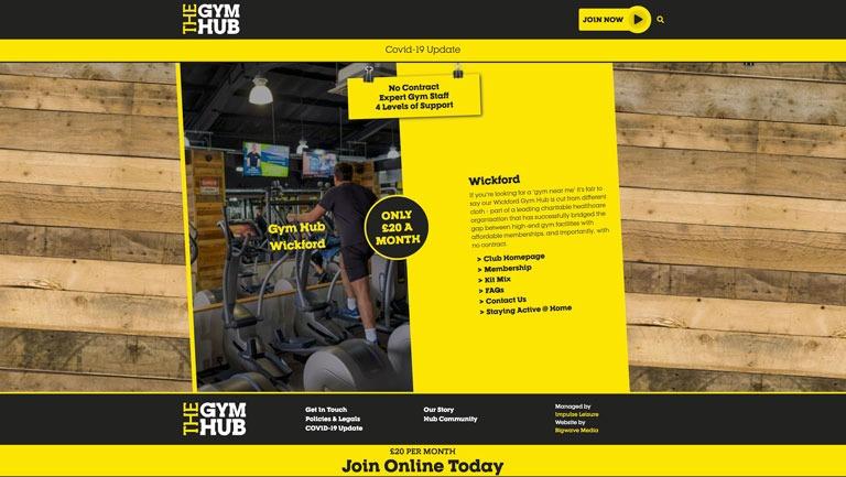 The Gym Hub Home Page