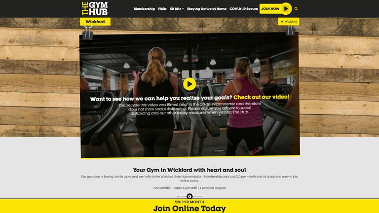 The Gym Hub Website Screenshot 2