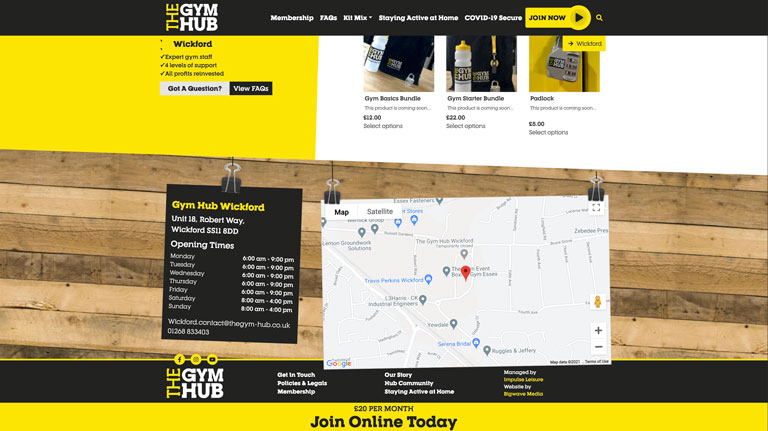 The Gym Hub Website Screenshot 3